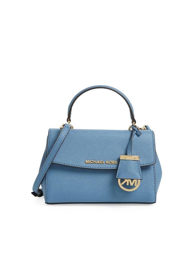 MICHAEL Michael Kors Ava Small Saffiano Leather Satchel Sky Blue