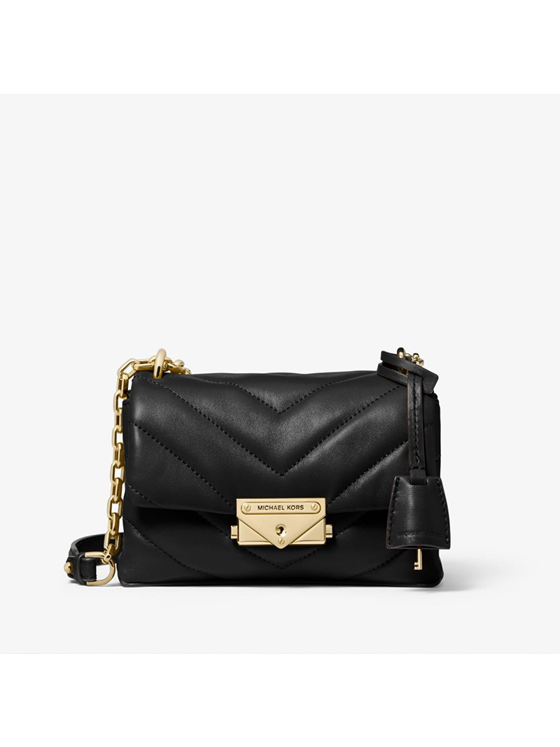 MICHAEL Michael Kors Cece Extra-Small Quilted Leather Crossbody Bag Black