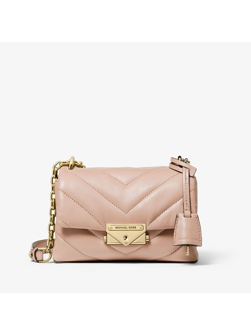 MICHAEL Michael Kors Cece Extra-Small Quilted Leather Crossbody Bag Pink