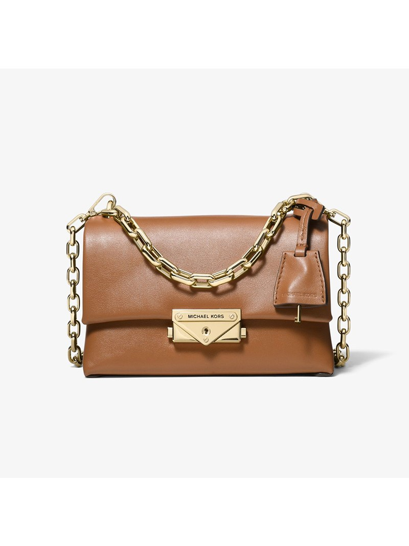 MICHAEL Michael Kors Cece Extra-Small Leather Crossbody Bag Brown