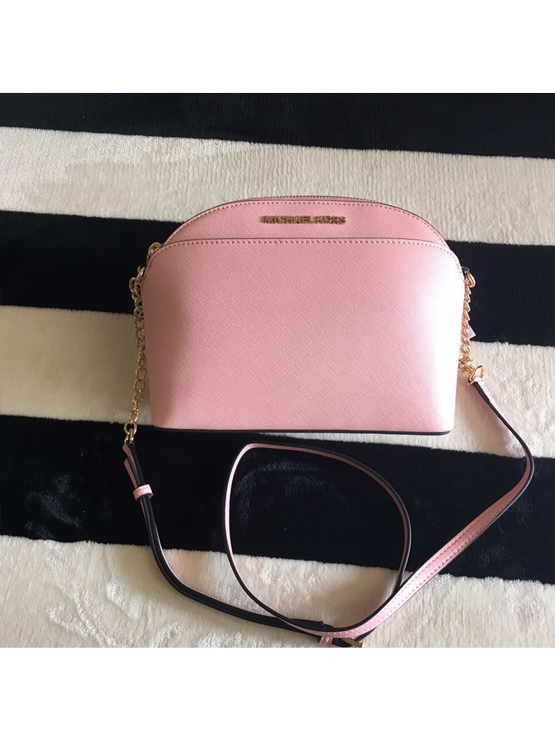 MICHAEL Michael Kors Cindy Large Dome Crossbody Bag Pink
