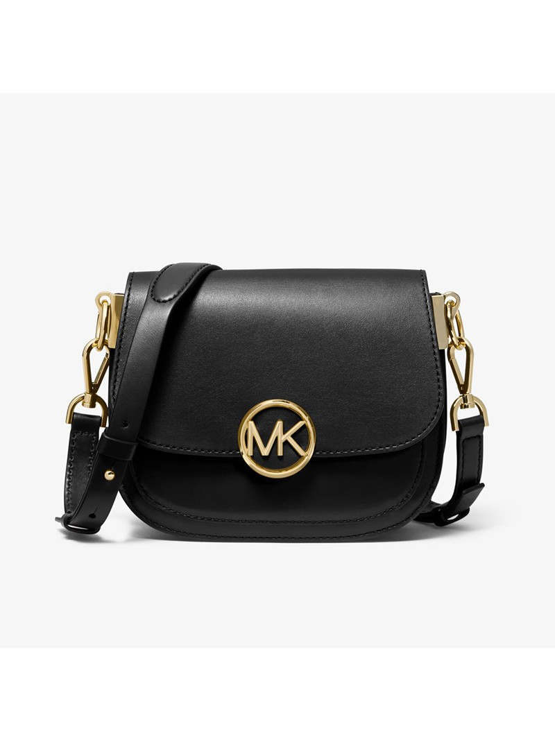 MICHAEL Michael Kors Lillie Small Leather Accordion Crossbody Bag Black