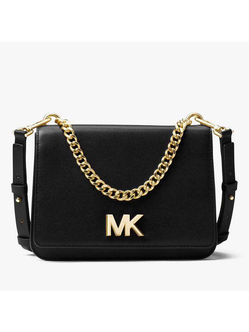 MICHAEL Michael Kors Mott Leather Crossbody Black