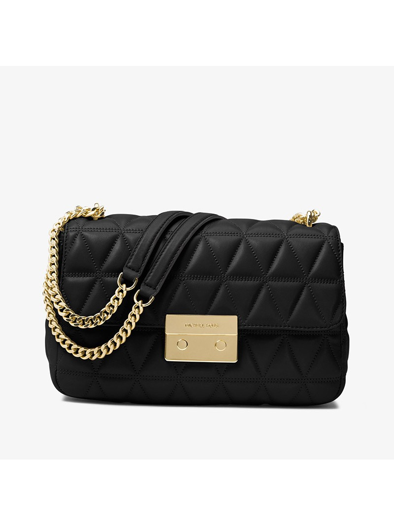 MICHAEL Michael Kors Sloan Quilted-Leather Shoulder Bag Black