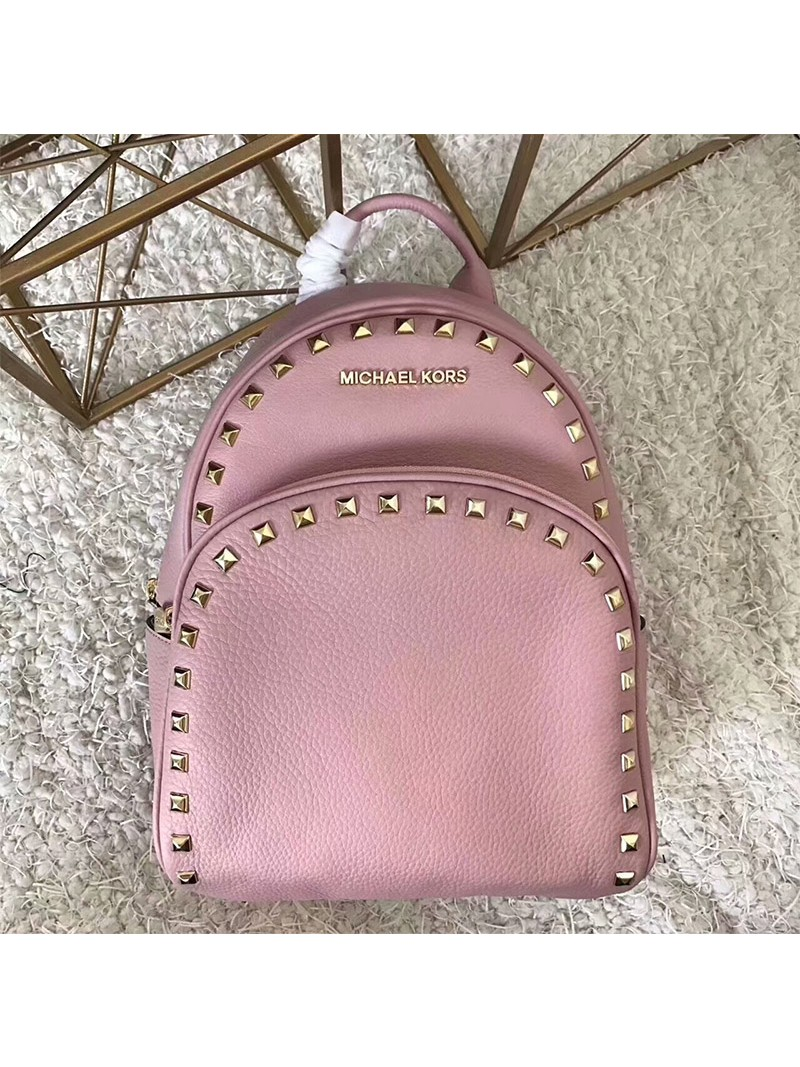 MICHAEL Michael Kors Abbey Studded Leather Backpack Pink