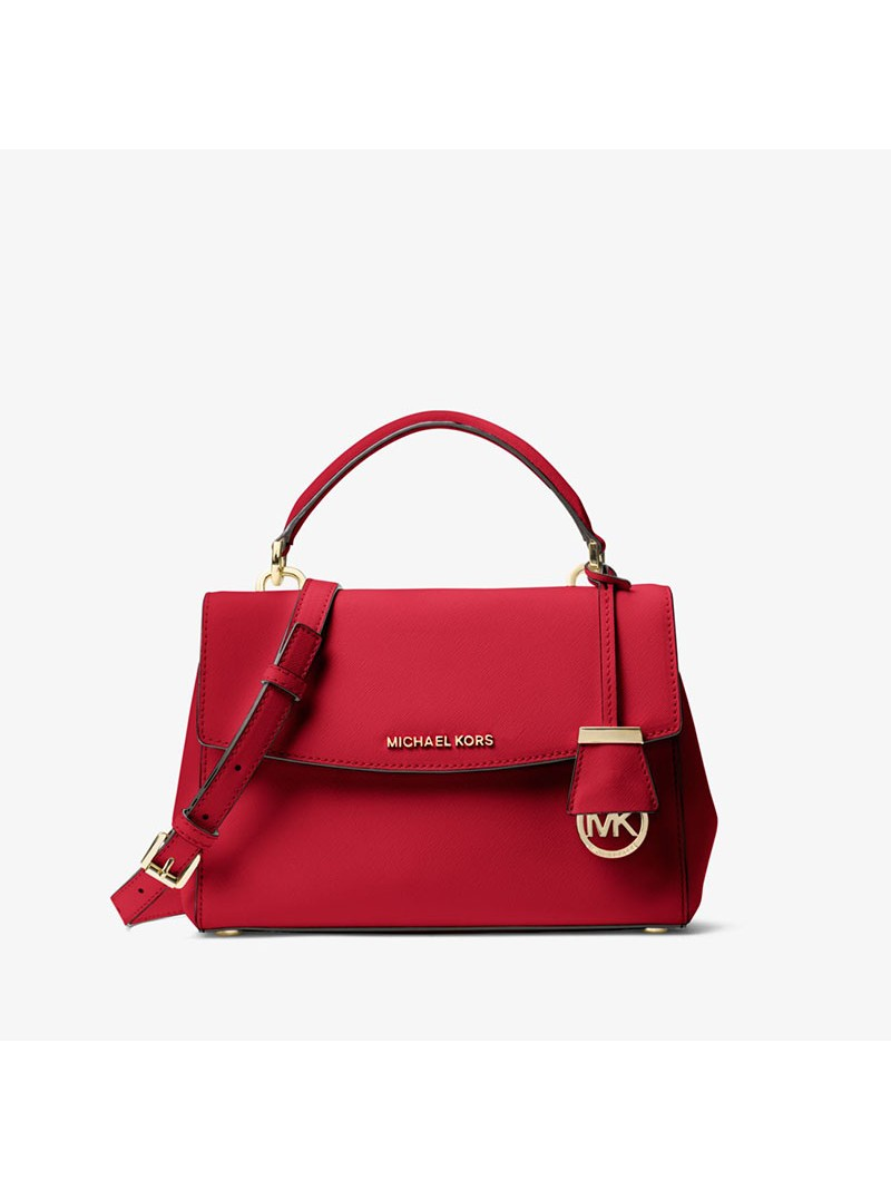 MICHAEL Michael Kors Ava Small Saffiano Leather Satchel Red