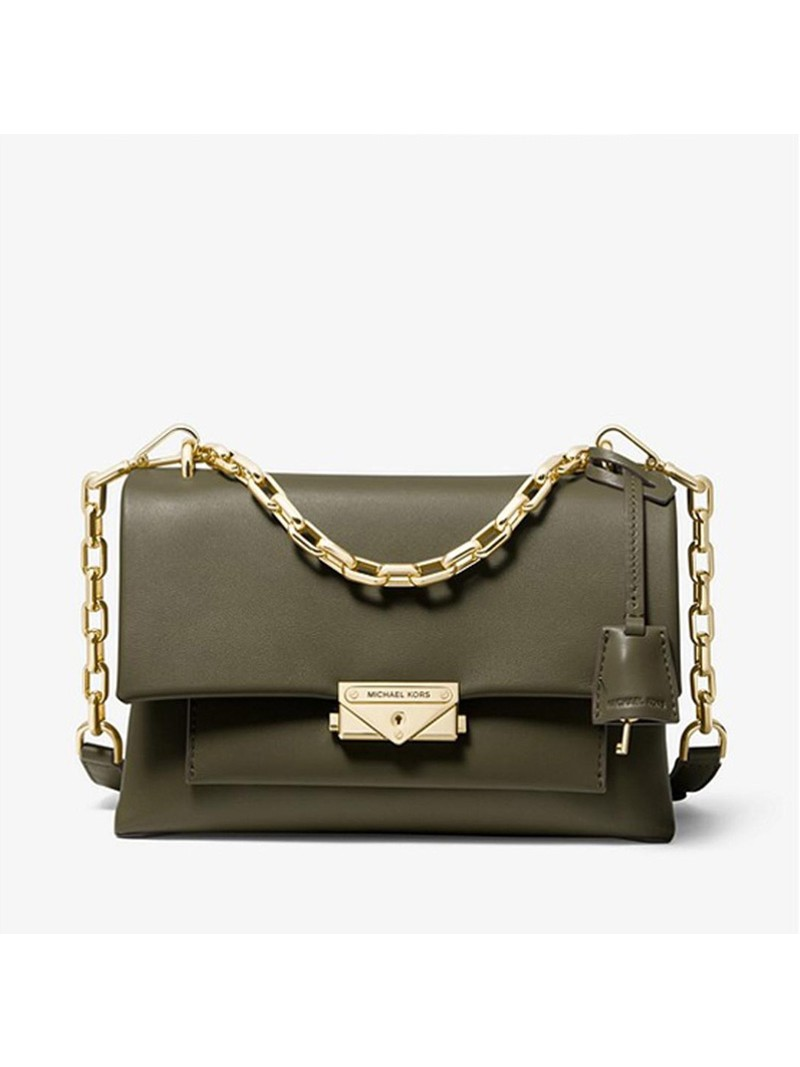 MICHAEL Michael Kors Cece Medium Leather Shoulder Bag Olive