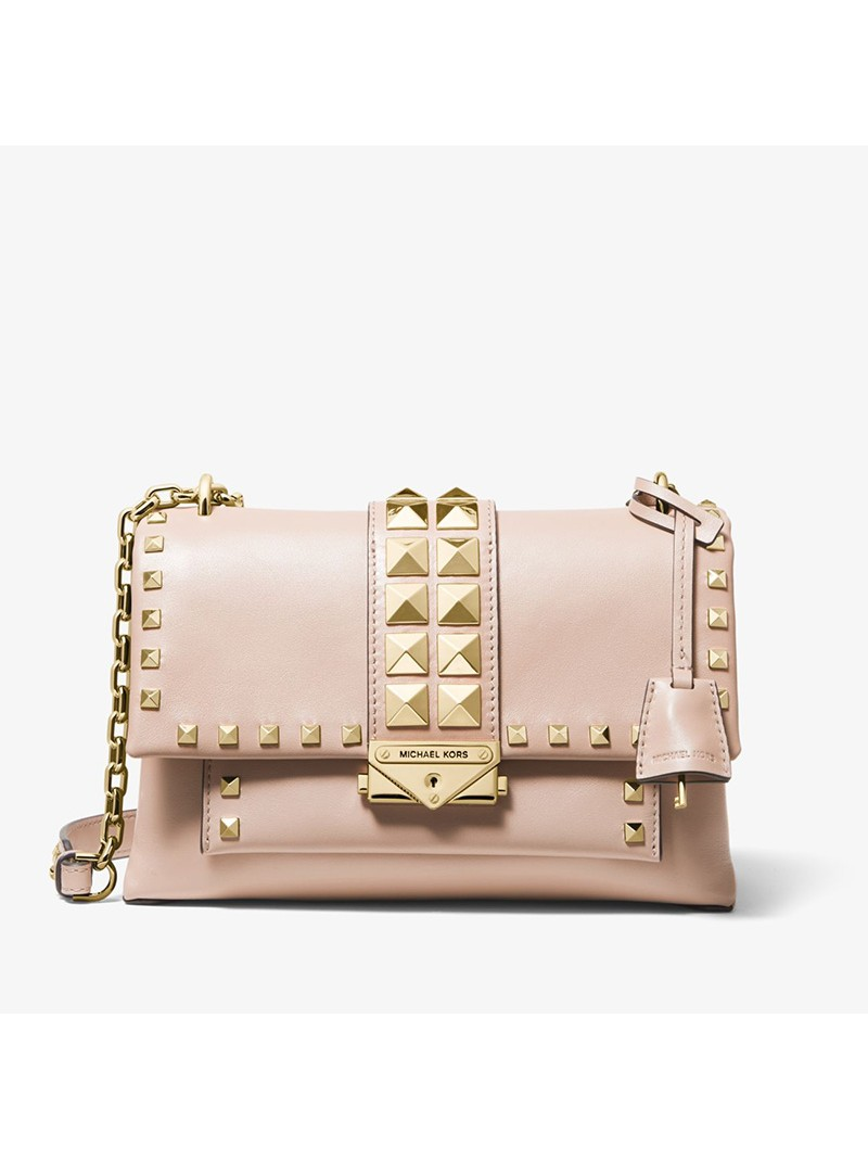 MICHAEL Michael Kors Cece Medium Studded Leather Convertible Shoulder Bag Pink