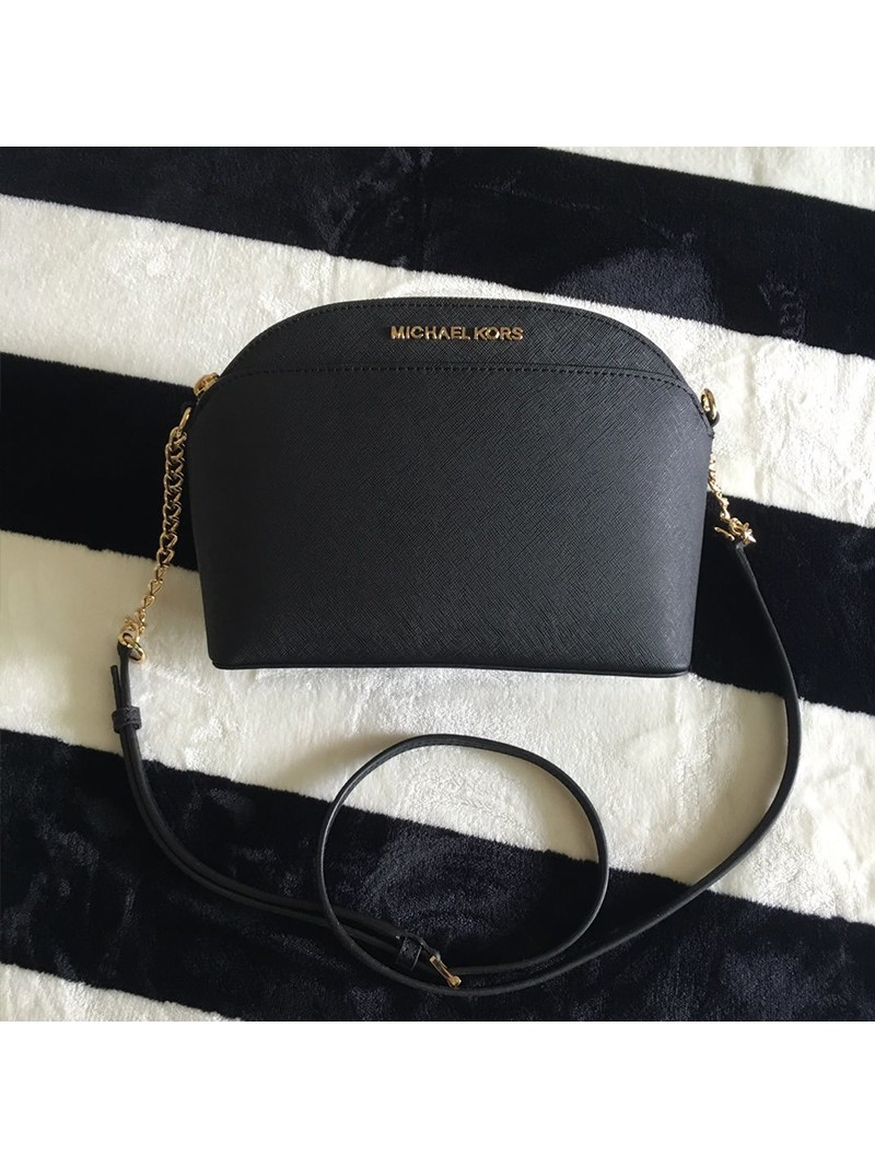 MICHAEL Michael Kors Cindy Large Dome Crossbody Bag Black