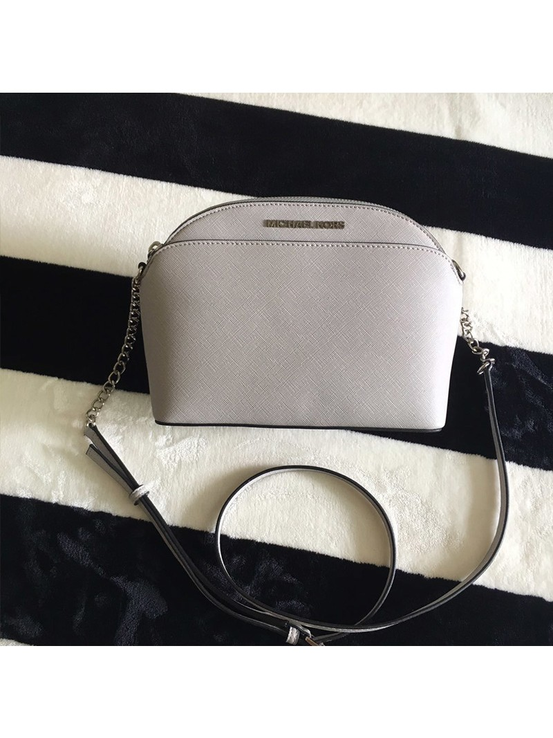 MICHAEL Michael Kors Cindy Large Dome Crossbody Bag Grey