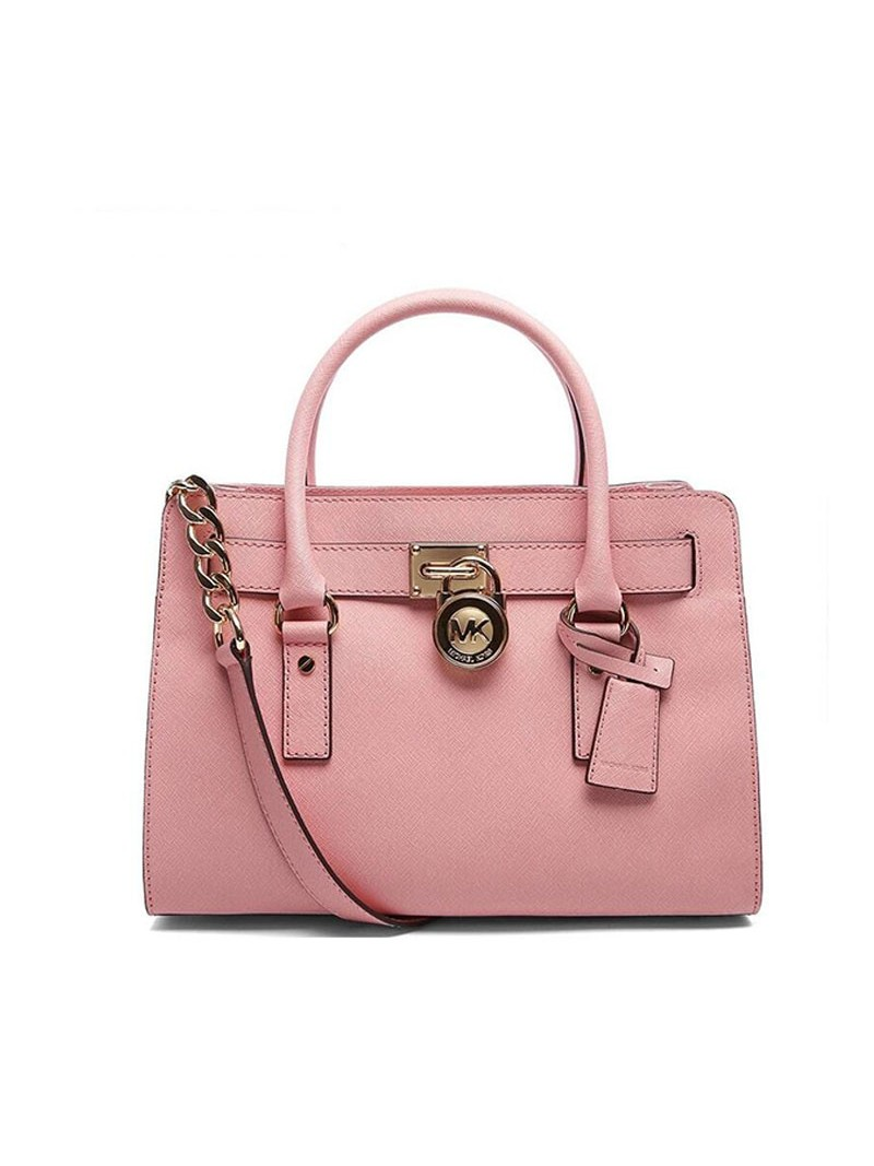 MICHAEL Michael Kors Hamilton Medium Saffiano Leather Satchel Pink