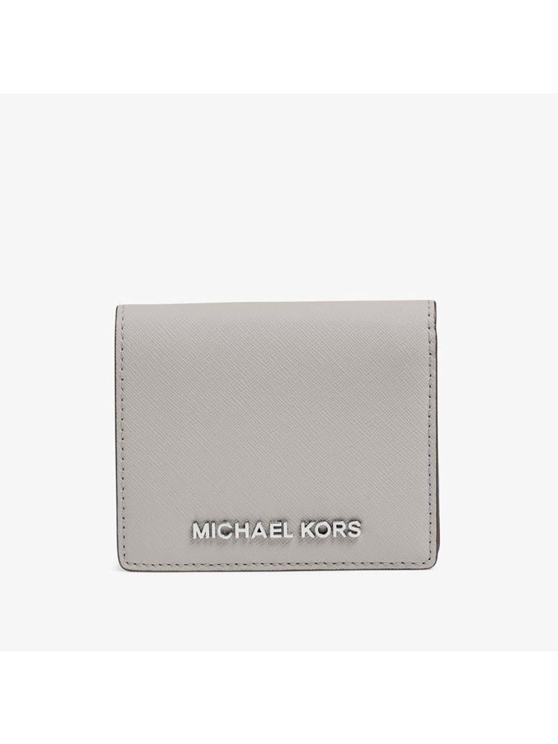 MICHAEL Michael Kors Jet Set Travel Flap Leather Card Holder Grey
