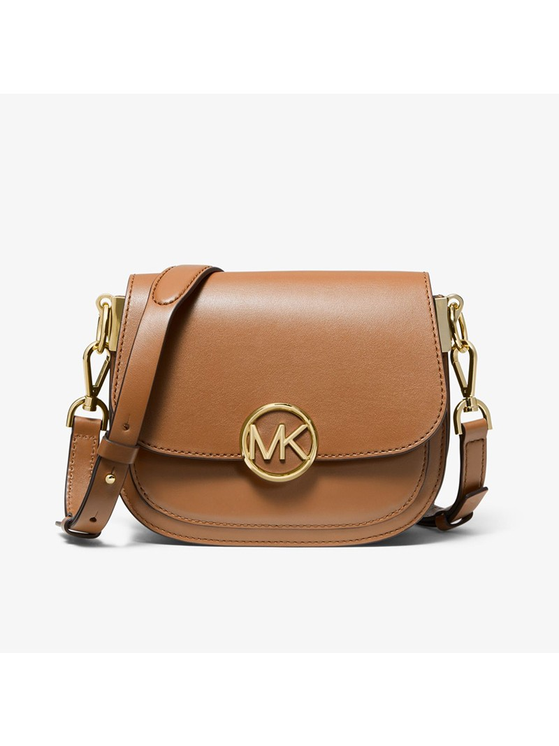 MICHAEL Michael Kors Lillie Small Leather Accordion Crossbody Bag Brown
