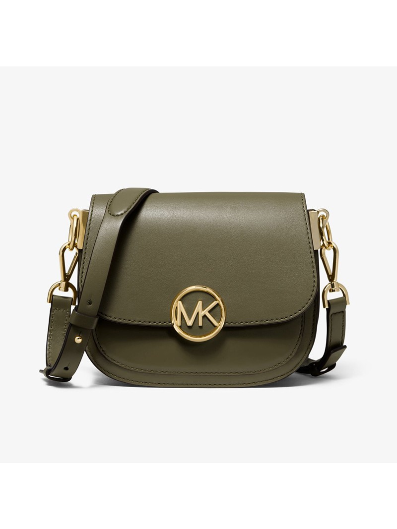 MICHAEL Michael Kors Lillie Small Leather Accordion Crossbody Bag Olive