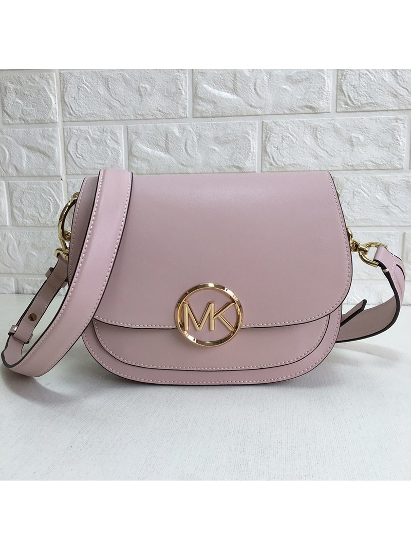 MICHAEL Michael Kors Lillie Small Leather Accordion Crossbody Bag Pink