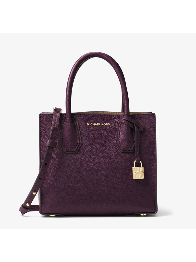 MICHAEL Michael Kors Mercer Leather Tote Burgundy