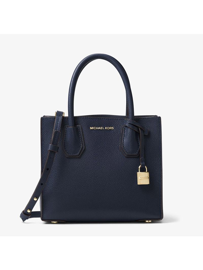 MICHAEL Michael Kors Mercer Leather Tote Navy Blue