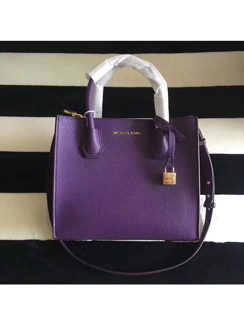 MICHAEL Michael Kors Mercer Leather Tote Purple