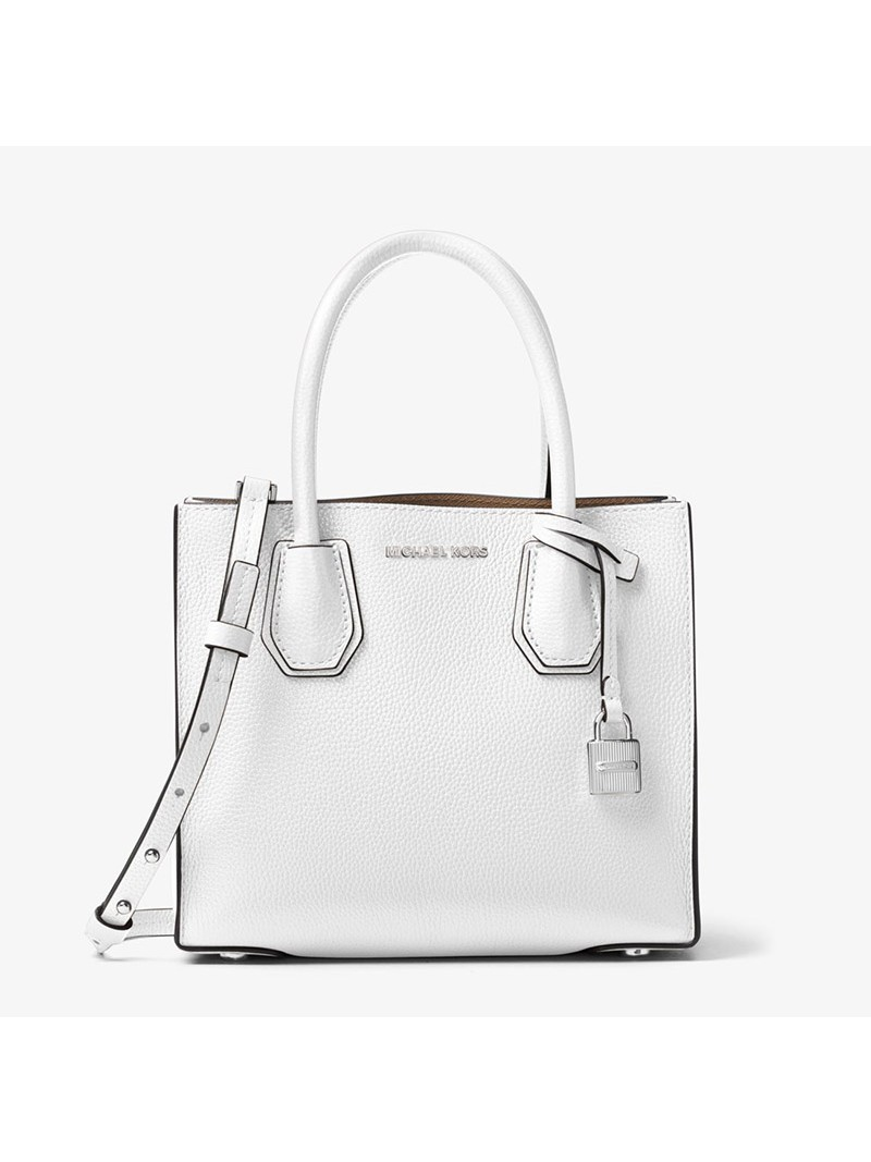 MICHAEL Michael Kors Mercer Leather Tote White