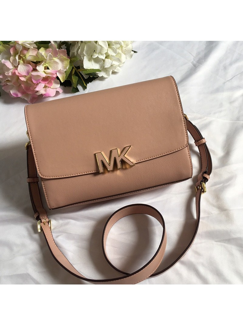 MICHAEL Michael Kors Montgomery Leather Convertible Crossbody Bag Apricot