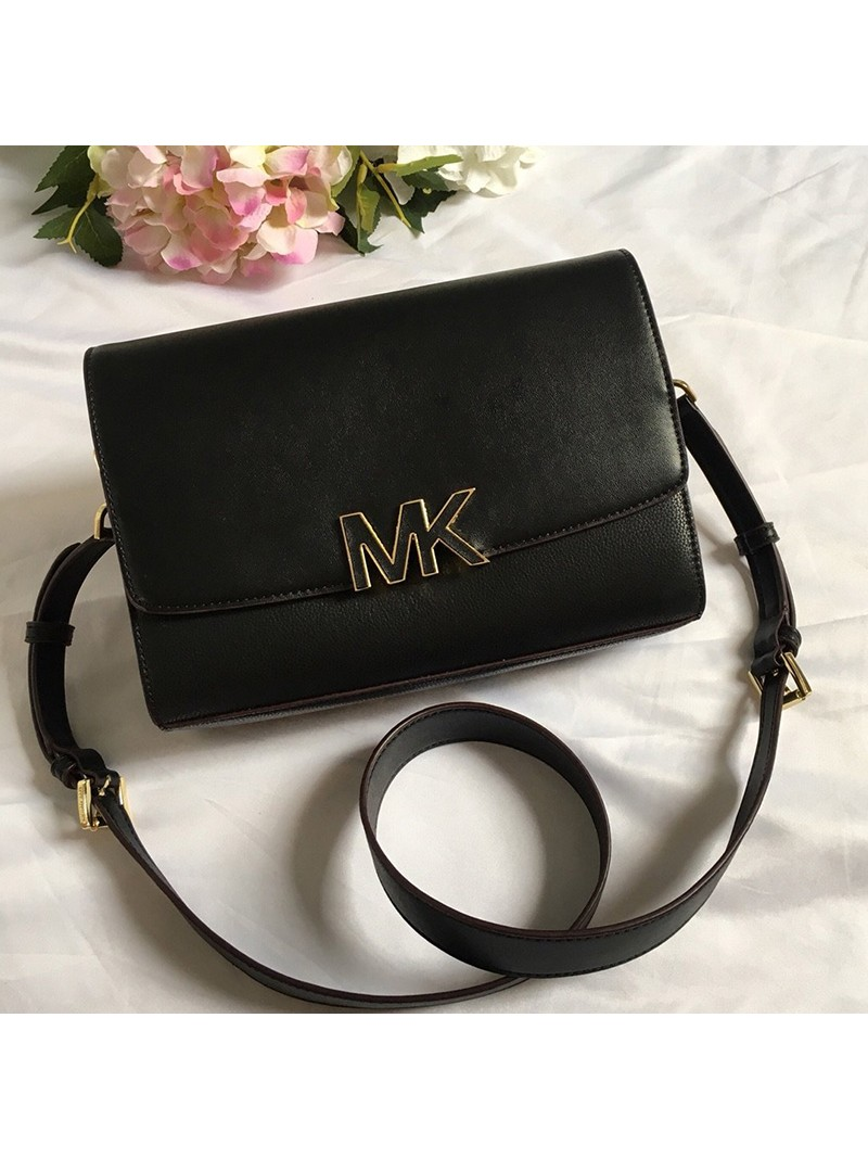 MICHAEL Michael Kors Montgomery Leather Convertible Crossbody Bag Black