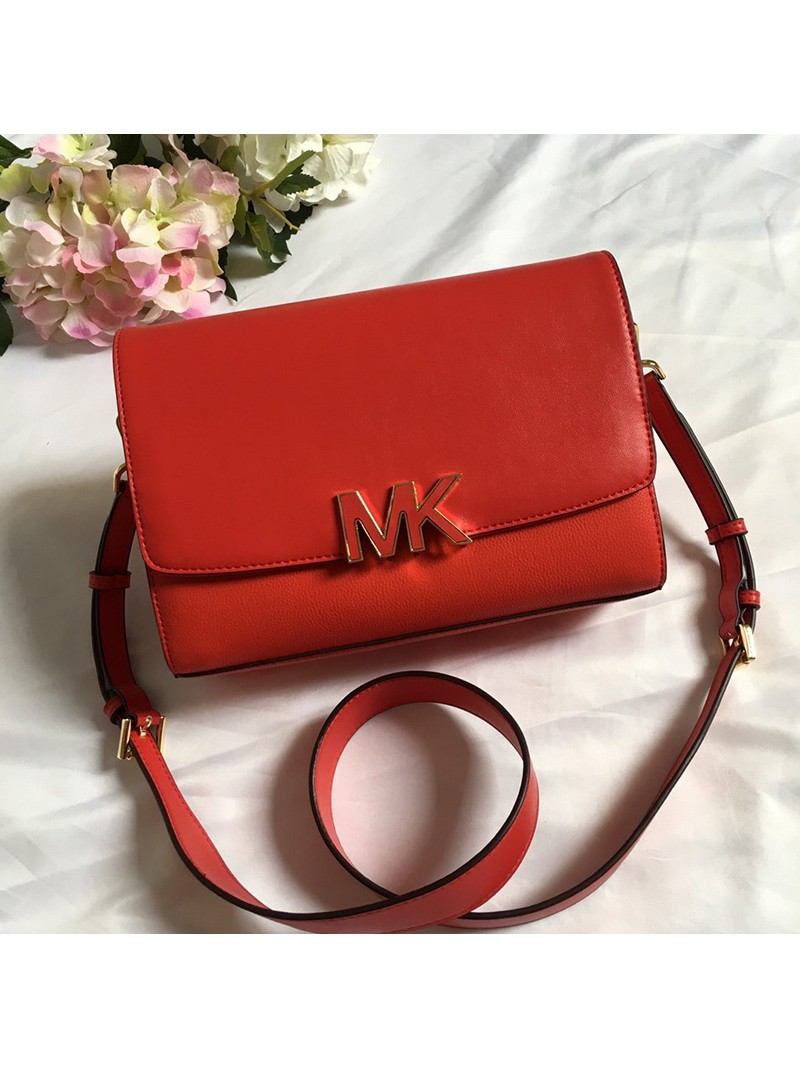 MICHAEL Michael Kors Montgomery Leather Convertible Crossbody Bag Red