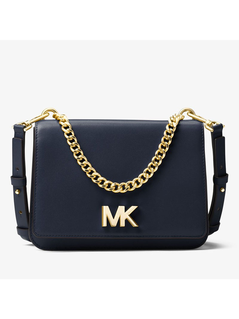 MICHAEL Michael Kors Mott Leather Crossbody Navy Blue