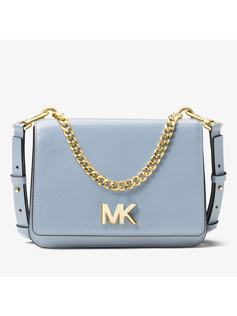 MICHAEL Michael Kors Mott Leather Crossbody Sky Blue