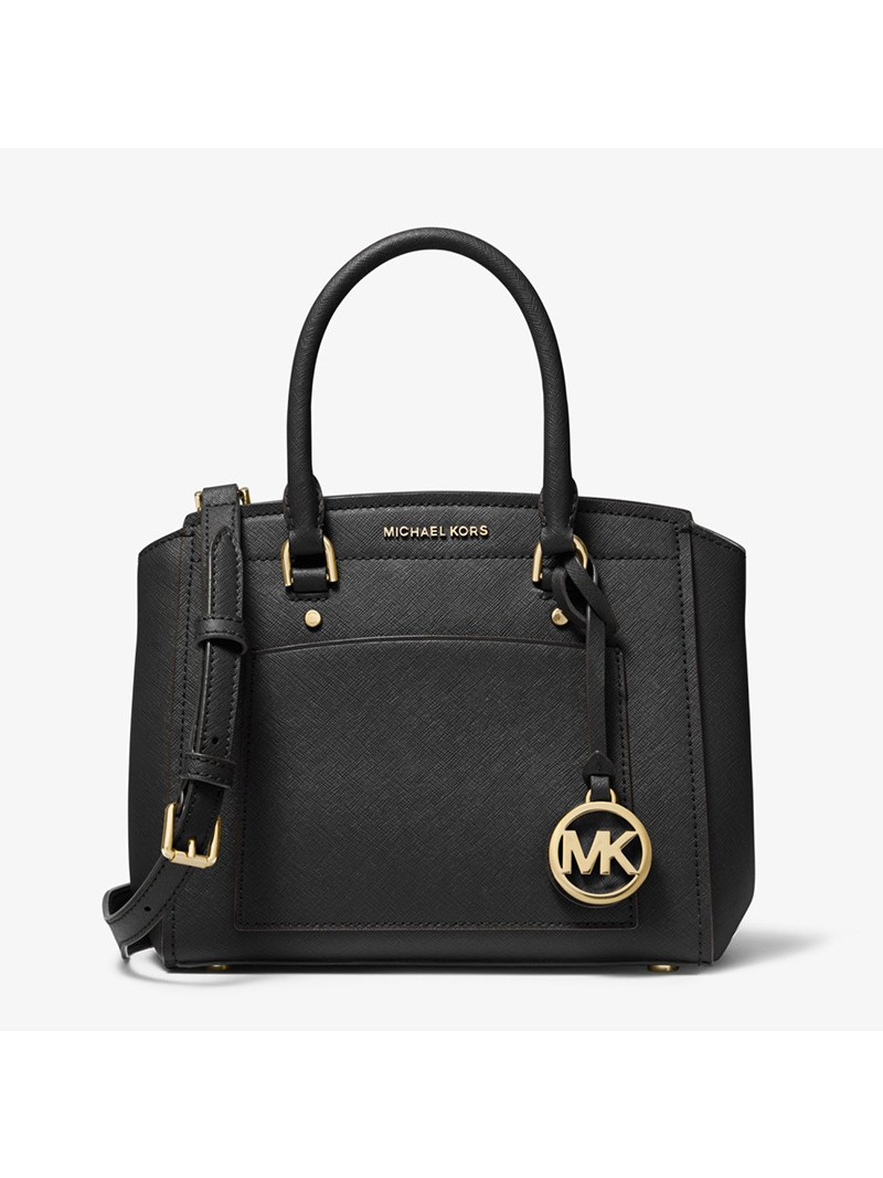 MICHAEL Michael Kors Park Medium Saffiano Leather Satchel Black