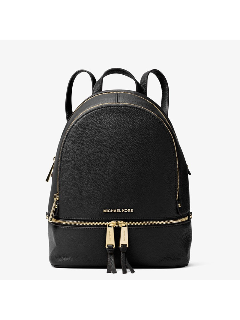 MICHAEL Michael Kors Rhea Small Leather Backpack Black