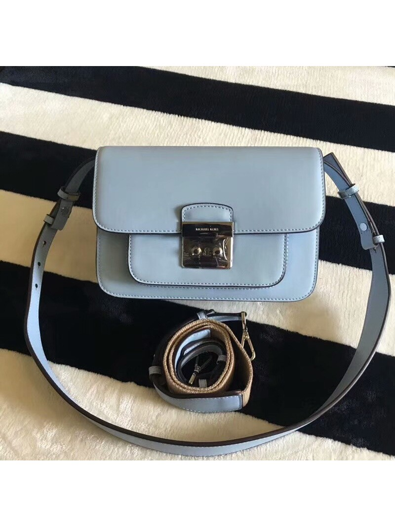 MICHAEL Michael Kors Sloan Editor Leather Shoulder Bag Sky Blue