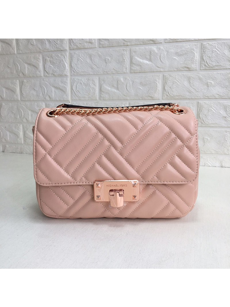 MICHAEL Michael Kors Sloan Large Quilted-Leather Shoulder Bag Pink