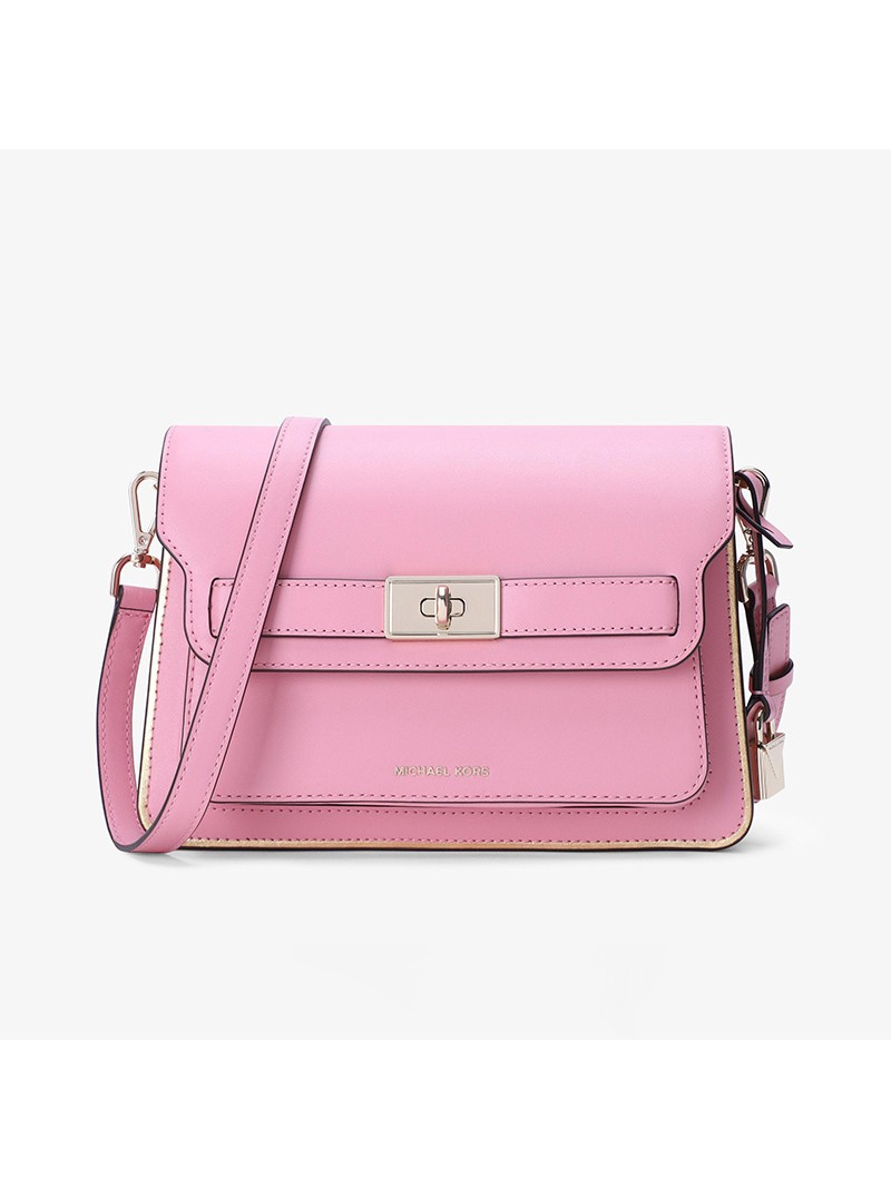 MICHAEL Michael Kors Tatiana Leather Accordion Crossbody Bag Pink