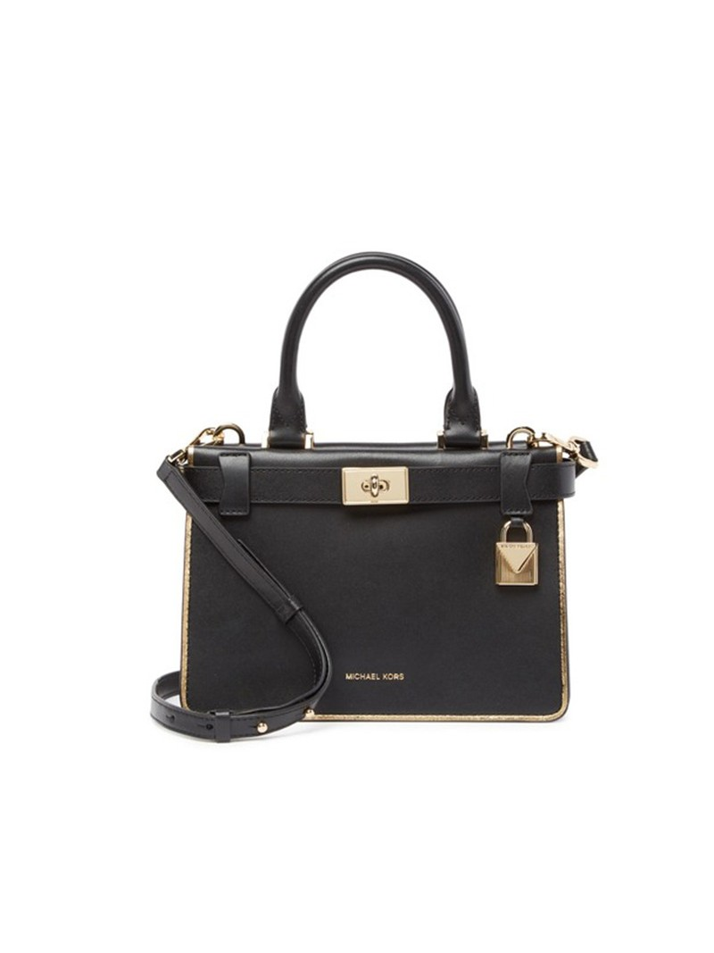 MICHAEL Michael Kors Tatiana Mini Leather Satchel Black