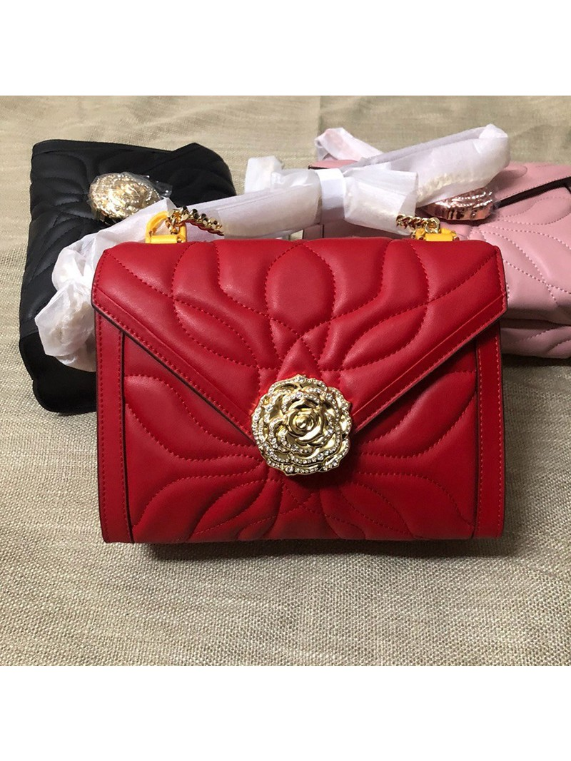 MICHAEL Michael Kors Whitney Large Petal Quilted Leather Convertible Shoulder Bag Red