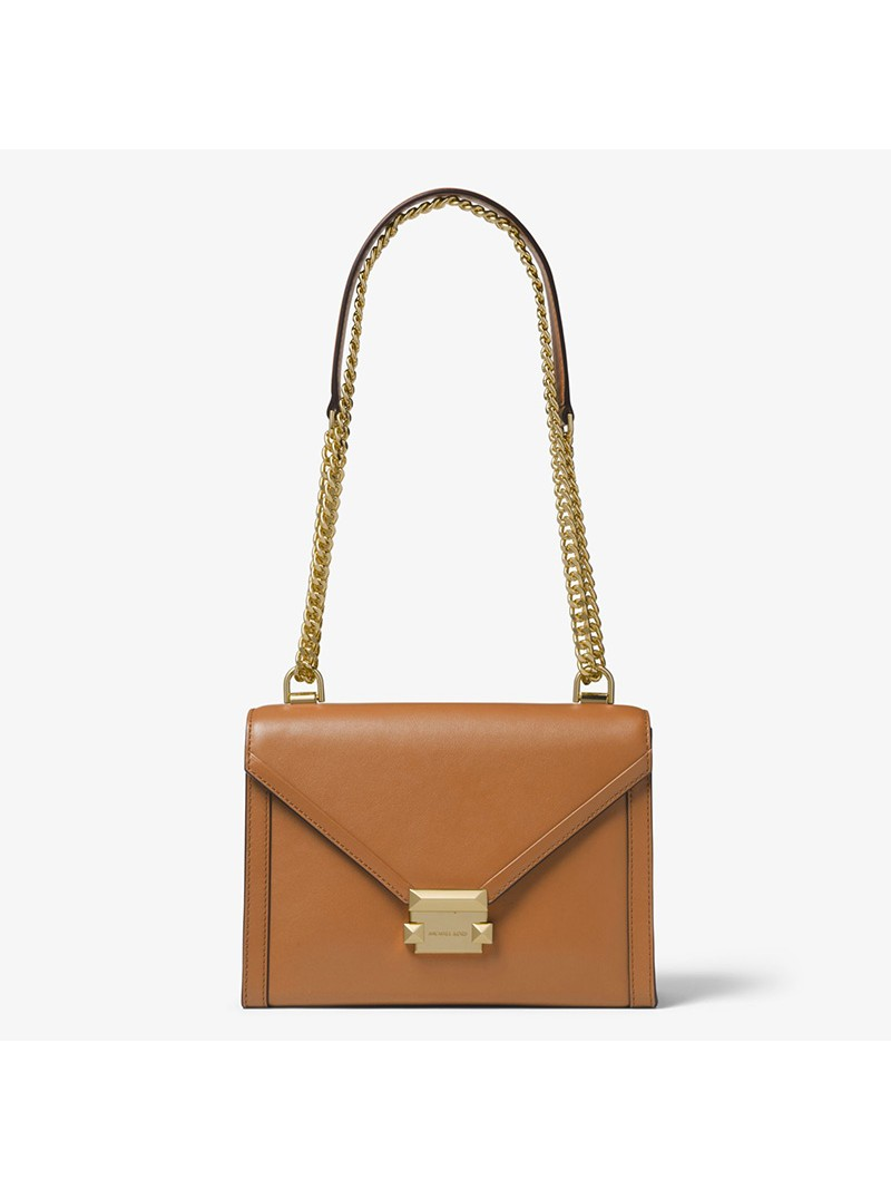 MICHAEL Michael Kors Whitney Large Leather Convertible Shoulder Bag Brown