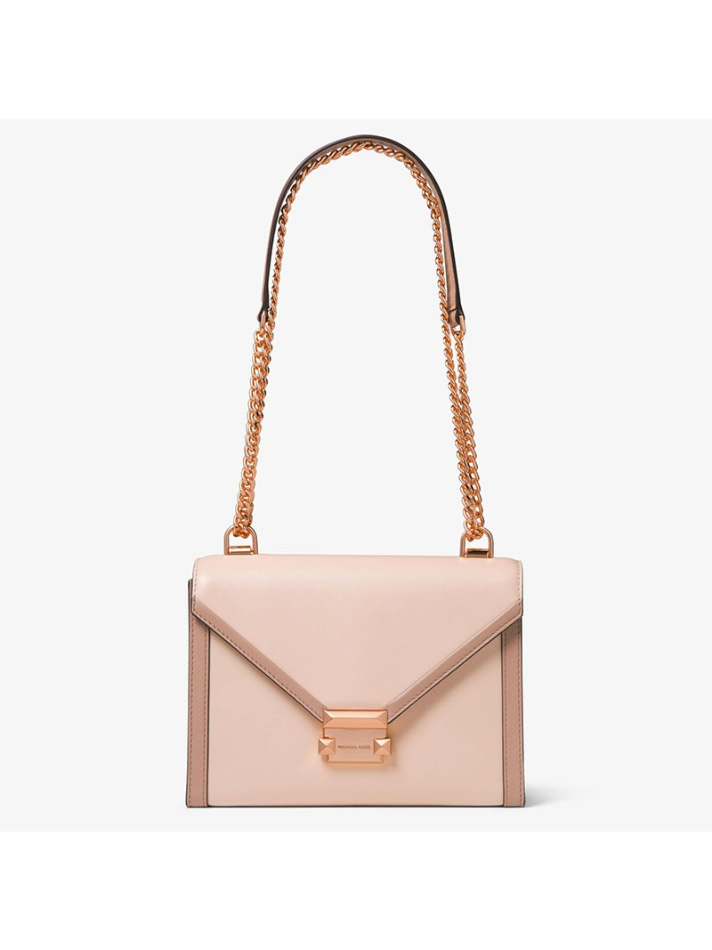 MICHAEL Michael Kors Whitney Large Leather Convertible Shoulder Bag Pink