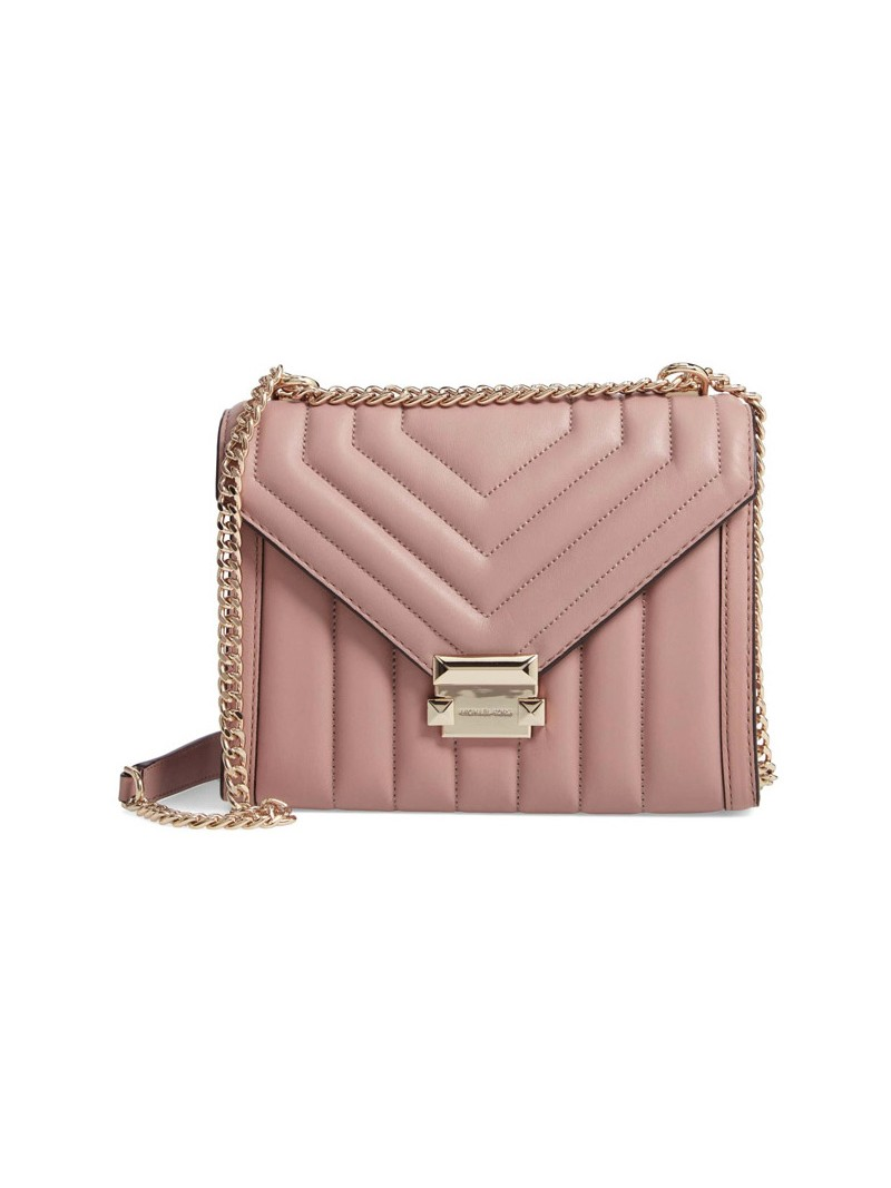 MICHAEL Michael Kors Whitney Quilted Leather Convertible Shoulder Bag Pink